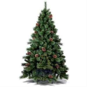 Kerstboom met decoratie (hoogte circa 150-180cm)