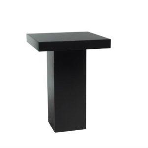 Statafel zwart 80 x 80 cm