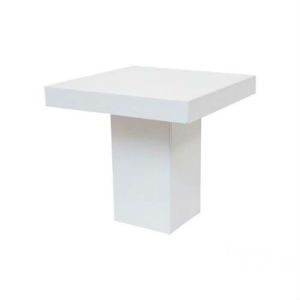 Tafel wit 80 x 80 cm